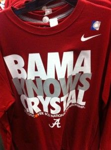 298307606a Bama Knows Crystal. Bring on the Fighting Irish. Fall Football