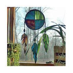 Stained Glass Suncatcher  Native American by GlassArtByChris, $75.00