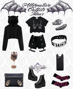 Goth Style, My Style, Emo Clothes, Kawaii Goth, Emo Goth, Anime Life, Emo Outfits, Alternative Outfits, Punk Fashion