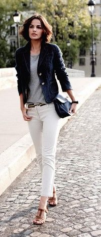 f3c298b79dfd 36 Επιλογές για να φορέσεις το γυναικείο σακάκι από το πρωί ως το βράδυ!  Λευκό Τζιν