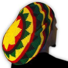 Cloudy Crochet: Rasta Hat - a simple pattern Crochet Slouchy Hat, Crochet Beanie Pattern, Knit Hats, Hat Patterns, Bonnet Crochet, Crochet Cap, Free Crochet, Bob Marley, Beanies