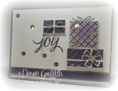 #1 Joy card  Kissing Technique  Stampin'Up! Dawn Griffith