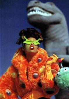 Elle US Nov 1991 - Shana Zadrick by Gilles Bensimon