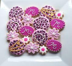 Custom Pink Leopard Birthday Cookies  @sugarlovecookiesdesigns FB sugar love cookie designs Cookies Et Biscuits, Sugar Cookies, Sugar Love, Cookie Designs, Cake, Desserts, Food, Pink, Pie Cake