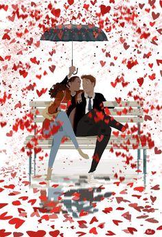 The Art Of Animation — Pascal Campion -. Pascal Campion, Image Couple, Couple Art, Love Illustration, Character Illustration, Digital Illustration, Interracial Art, Art Amour, Love Wallpaper