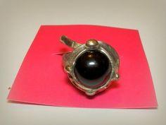 http://megasilver.pl/Pierscionek-p181 #ring #metalwork #handmade #black #stone #jewelry #jewellery