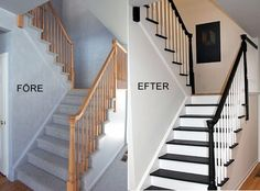 DIY Home Improvement On A Budget - Paint Your Stairs - Easy and Cheap Do It Your.DIY Home Improvement On A Budget - Paint Your Stairs - Easy and Cheap Do It Yourself Tutorials for Updating and Renovating Your House - Home Decor Tip. Easy Home Decor, Cheap Home Decor, Home Improvement Projects, Home Projects, Diy Home Decor For Apartments, Diy Casa, Diy On A Budget, Tight Budget, House Ideas On A Budget