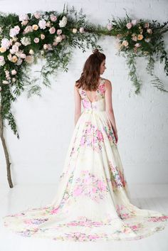 'Untamed Love', RRP  £1,650  Untamed Love is the signature gown from the Untamed Love collection in an exclusive floral bloom fabric exclusive to the house of Charlotte Balbier. Perfect floral wedding dress.