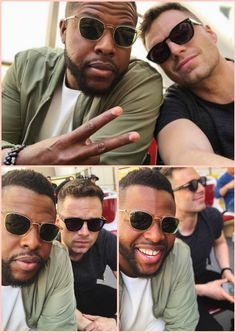 Winston Duke (M'Baku) and Sebastian Stan in CA on April 22, 2018