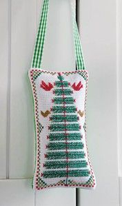 Craft Ideas magazine : Cross-Stitch Woodland Pine Sachet by Kathleen Berlew