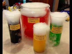 Halloween parties are the perfect time to experiment with some creative snacks and drinks, Mad Scientist-style.Punch is a classic party beverage and can be made with a variety of different drinks for any occasion. For this spooky season, Jennifer...