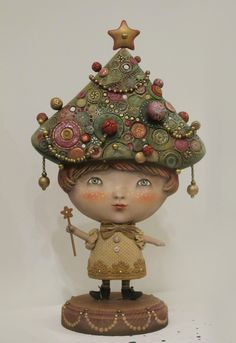 """Small Fir"" - art doll by Anna Zueva. Paperclay"