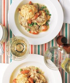 Slow-Cooker Creamy Chicken With Biscuits recipe