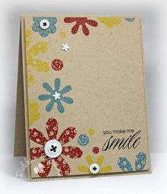 Great card with only stamping and a few embellishments from CTMH  - mom2n2