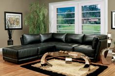 Looking for Coaster Kayson Contemporary 5 Piece Bonded Leather Sectional Sofa Black ? Check out our picks for the Coaster Kayson Contemporary 5 Piece Bonded Leather Sectional Sofa Black from the popular stores - all in one. Modular Living Room Furniture, Sectional Living Room Sets, Modular Sectional Sofa, Leather Sectional Sofas, New Living Room, Small Living Rooms, Sofa Furniture, Leather Furniture, Coaster Furniture
