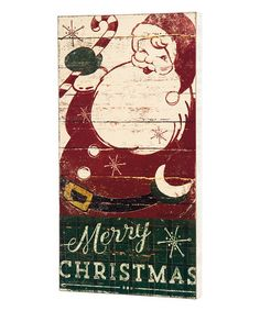 Another great find on #zulily! 'Merry Christmas' Santa Distressed Box Sign #zulilyfinds