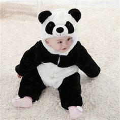 e436a6f5f62e9d 2016 New Baby Animal Costume Onesie Cute Climbing Pajamas Romper Jumpsuit  Coverall Lovely Panda Rompers for Kids-in Rompers from Mother & Kids on ...