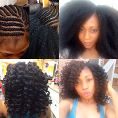American and African Hair Braiding : Crochet braids with marley hair - Beauty Haircut Crochet Braids, Crochet Hair Styles, African Braids Hairstyles, Protective Hairstyles, Braided Hairstyles, Protective Styles, Be Natural, Natural Hair Care, Natural Hair Styles