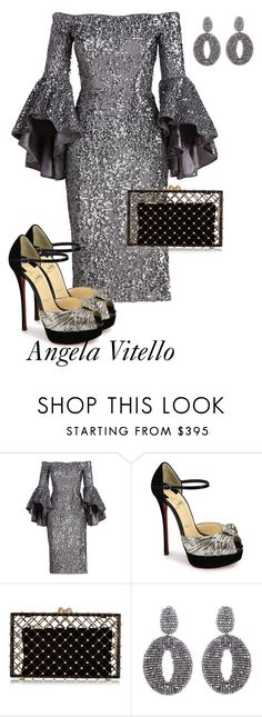 """Untitled #835"" by angela-vitello on Polyvore featuring Milly, Christian Louboutin, Charlotte Olympia and Oscar de la Renta"