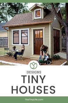 Wanting to build a DIY tiny house of your own? Check out these tiny house designs and discover different types of layouts, styles, and storage ideas! Everything from cabins, to portable trailers, to cottages, and even tree-houses.   #tinyhouse #tinyhousemovement #tinyhouselife #tinyhousefamily #cottage Tiny House Family, Tiny House Loft, Tiny House Living, Tiny House Plans, Tiny House On Wheels, Home Design, Tiny House Design, Tiny House Movement, Trailer Casa
