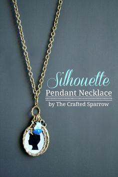 DIY Silhouette Necklace via SNAP!