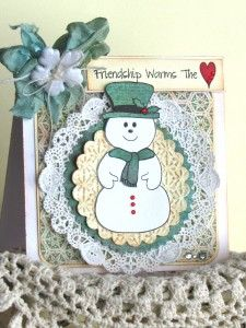 Created using Snow Friends and Friendship Warms The Heart stamp sets! Designed by Maria Patrick – PSSI #1 WINNER!  www.papersweeties.com