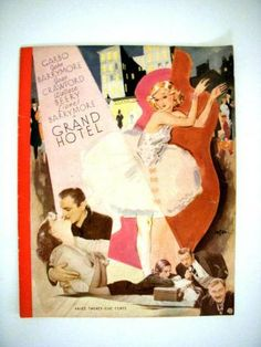 Rare Vintage 1932 Movie Program from Grand Hotel by OmAgainVintage