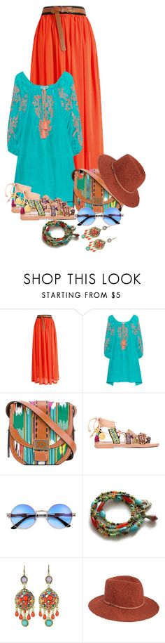 """Boho"" by sarahguo ❤ liked on Polyvore featuring Juliet Dunn, Etro, Mabu, WithChic and Billabong"