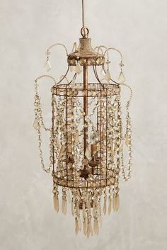 Lighting! Anthropologie Crystal Palace Chandelier #anthrofave #luxury