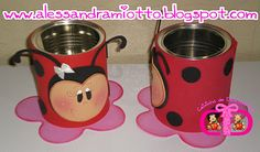 Tin Can Crafts, Bug Crafts, Diy Crafts To Do, Foam Crafts, Crafts For Kids, Lady Bug, Ladybug Party, Class Decoration, Pencil Boxes