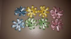 1 Pair Clip in Flower Style Bows | eBay