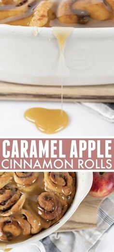 If you're looking for a fall dessert with some serious wow-factor, these caramel apple cinnamon rolls are it! Perfect to have with afternoon coffee or even for a fun breakfast. Apple Cinnamon Rolls, Cinnamon Apples, Caramel Apples, Breakfast, Recipes, Food, Morning Coffee, Essen, Eten