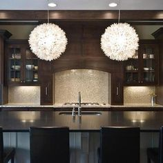 Lotus Flower Chandelier, Contemporary, kitchen, Blake Shaw Homes