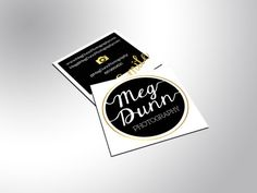 Gold foil business cards with a silk-laminate. Very smooth to the touch. These square business cards (2.5 x 2.5) are printed on premium 16pt card