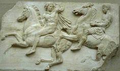Cavalieri del fregio del Partenone. Conservato al British Museum