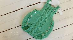 Knit Baby romper -  handmade onesies - baby pants - newborn romper - baby overalls - newborn props - baby photo props - by pontinhosmeus on Etsy