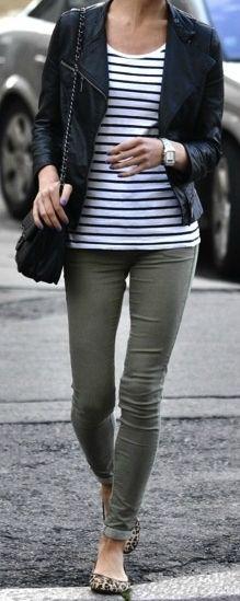 Army Green + Stripes