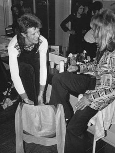 David Bowie and Mick Ronson 70s.