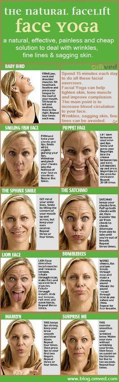 FACELIFT without surgery! Facial yoga are face exercises based on yogic rules. Practised since millennia, these are believed to tone facial muscles, erase fine lines, soften wrinkles and prevent new ones from forming! Designed to regenerate the 57 muscles Yoga Facial, Facial Muscles, Face Facial, Facial Toner, Neck Exercises, Facial Exercises, Stretches, Health And Beauty, Health And Wellness
