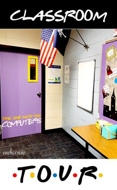 High school classroom splashed with a FRIENDS TV Theme. Could I BE any more excited? High School Classroom, History Classroom, Special Education Classroom, Highschool Classroom Decor, Classroom Decor Themes, Classroom Design, Classroom Ideas, Classroom Board, Classroom Teacher