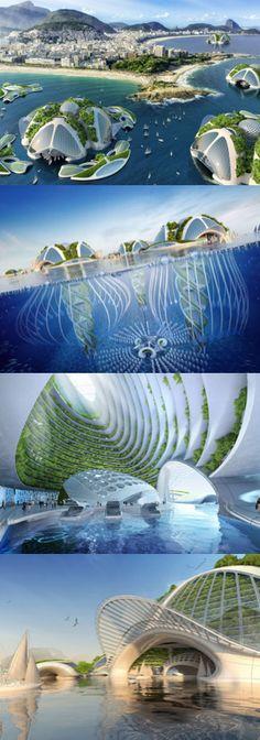 Clever Underwater Eco Village Plans