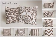 This Italian Brown throw pillow cover is an excellent way to update any rooms décor. Now you can mix and match the Prints that suit your