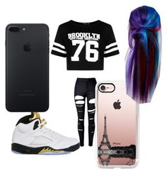 """""""beautiful"""" by pettyallthe on Polyvore featuring WithChic, Boohoo, NIKE, Casetify and Manic Panic NYC"""