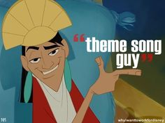 Theme song guy the emperor's new groove I need one of these