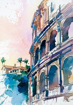 European Watercolor Artwork