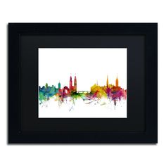 Zurich Switzerland Skyline II by Michael Tompsett Framed Graphic Art