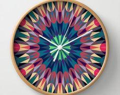 retro geometric clock - Google Search