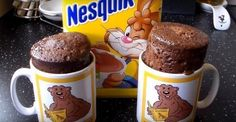 Avec du Nesquick, c'est toujours bon! Cake Ingredients, Nesquick, Biscuits, Brownie In A Mug, Mug Recipes, Homemade Taco Seasoning, Savoury Cake, Cake Pans, Mugs