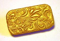 MINI SIZE Metal Slide Top Pill Box Gold Rococo Pattern Unique Handmade Gift FREE Grey Velvet Gift Pouch by claytheism on Etsy https://www.etsy.com/listing/490823637/mini-size-metal-slide-top-pill-box-gold