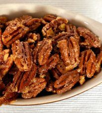 Maple Glazed Candied Pecans - The Orgasmic Chef Pecan Recipes, Sweet Recipes, Cooking Recipes, Syrup Recipes, Candy Recipes, Yummy Recipes, Recipies, Yummy Food, Maple Pecan